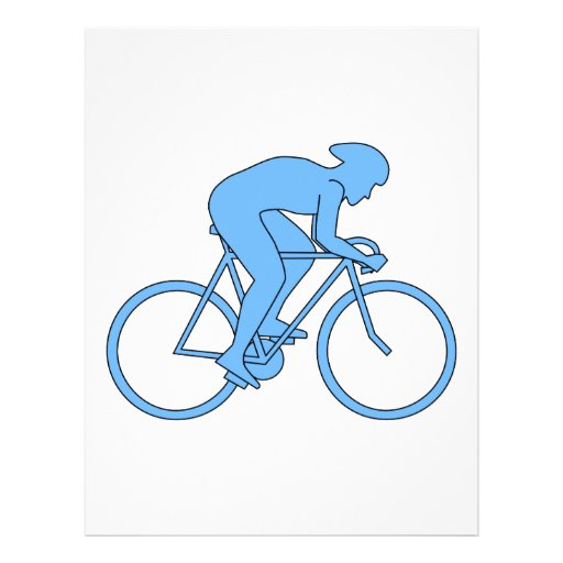 Ciclista en una raza. Azul Flyer A Todo Color