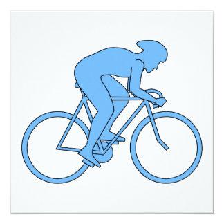 Ciclista en una raza. Azul Comunicados Personales