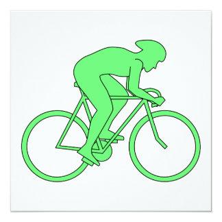 Ciclista en verde invitación