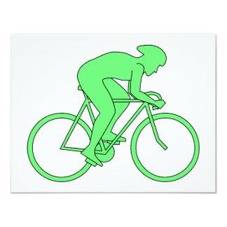 Ciclista en verde anuncio