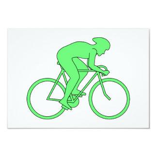 Ciclista en verde invitaciones personalizada