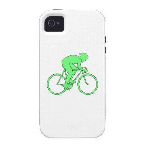 Ciclista en verde iPhone 4 carcasa