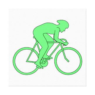Ciclista en verde impresion en lona