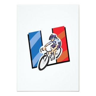Ciclista francés 2 invitación 12,7 x 17,8 cm