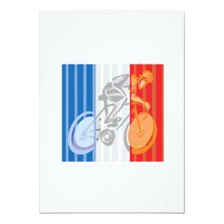 Ciclista francés invitación 12,7 x 17,8 cm