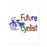 Ciclista futuro--Niños Biking los regalos y las Postal
