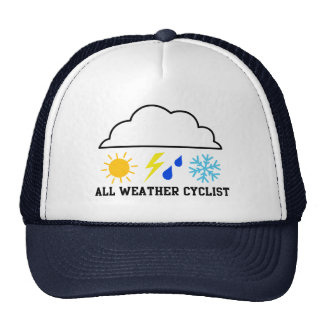 Ciclista para cualquier estación gorras de camionero