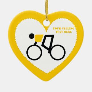 Ciclista que monta su personalizado de la biciclet ornamentos de navidad