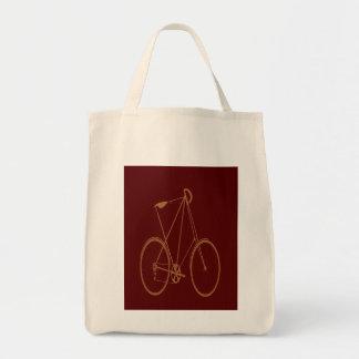 Ciclista rojo de la bici del moreno de la biciclet bolsa de mano