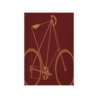 Ciclista rojo de la bici del moreno de la impresión en lona