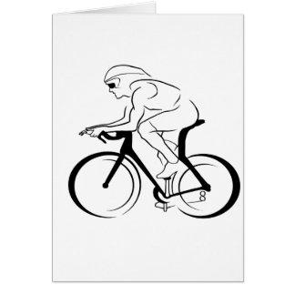 Ciclista Tarjeta De Felicitación