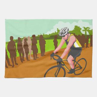 Ciclista WPA que compite con Toallas De Cocina
