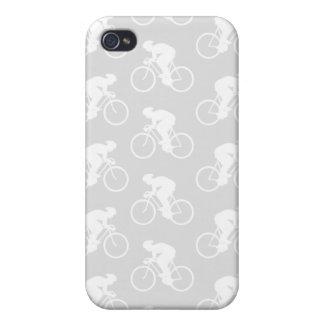 Ciclista y bicicleta Pern en gris iPhone 4/4S Carcasa