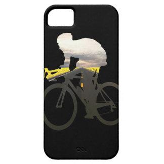 Ciclistas 01 del camino de ciclo iPhone 5 fundas