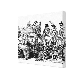 Ciclistas esqueléticos de José Guadalupe Posada Impresión En Lienzo