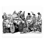 Ciclistas esqueléticos de José Guadalupe Posada Postales