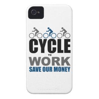 Ciclo a trabajar iPhone 4 Case-Mate cárcasa