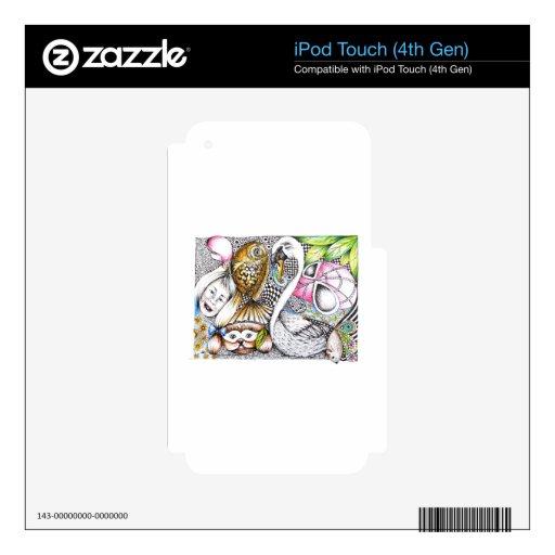 ciclo abstracto de la vida iPod touch 4G calcomanías