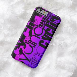 Ciclo; Azul violeta y magenta vibrantes Funda Para iPhone 6 Barely There