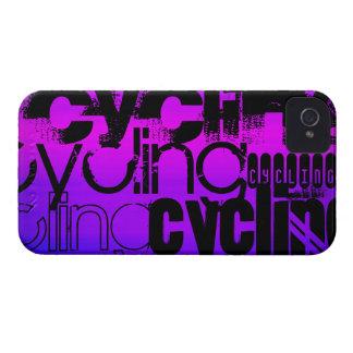 Ciclo; Azul violeta y magenta vibrantes Case-Mate iPhone 4 Fundas