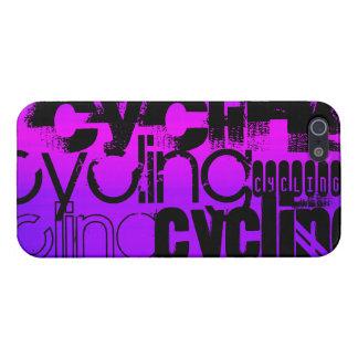 Ciclo; Azul violeta y magenta vibrantes iPhone 5 Carcasa