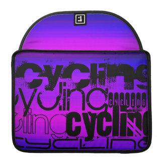 Ciclo; Azul violeta y magenta vibrantes Fundas Para Macbooks