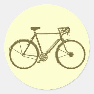 ciclo: bici-imagen: ciclo pegatina redonda