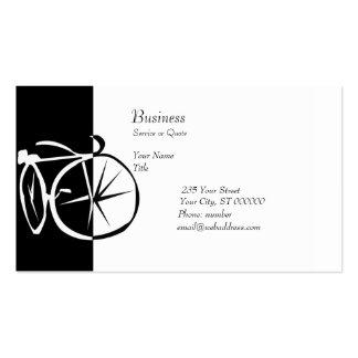 Ciclo blanco y negro de la bici de la bici plantillas de tarjeta de negocio