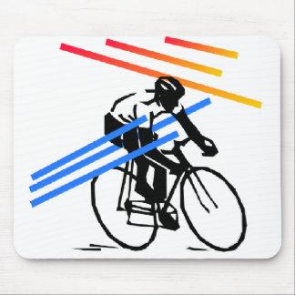 Ciclo colorido de la bici alfombrillas de ratón