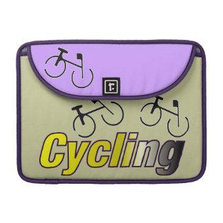Ciclo con la bicicleta fundas para macbooks