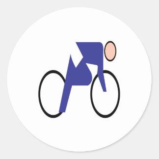 Ciclo de 2 etiqueta redonda