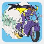 Ciclo de Batgirl Pegatina Cuadrada