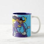 Ciclo de Batgirl Taza De Café De Dos Colores