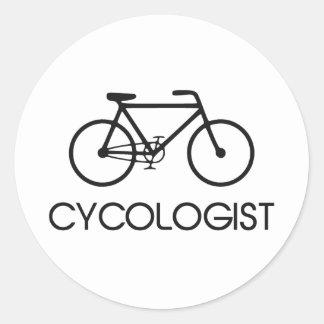 Ciclo de ciclo de Cycologist Pegatina Redonda