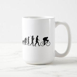 Ciclo de ciclo de los jinetes de la bicicleta de taza de café