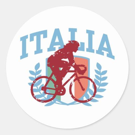 Ciclo de Italia (hembra) Etiquetas Redondas