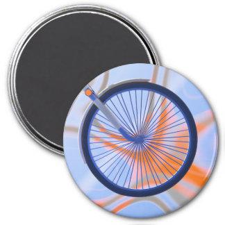 Ciclo de la bici - rueda de bicicleta imán redondo 7 cm