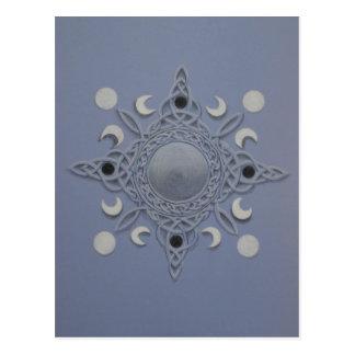 Ciclo de la luna - nudo céltico tarjeta postal