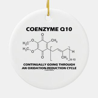 Ciclo de la oxidación-reducción de la coenzima Q10 Adorno Navideño Redondo De Cerámica