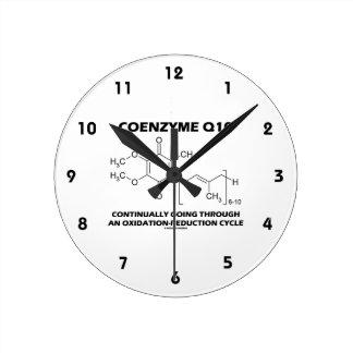 Ciclo de la oxidación-reducción de la coenzima Q10 Reloj Redondo Mediano