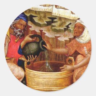 Ciclo de la pasión Nacimiento de Cristo por Meis Etiquetas Redondas