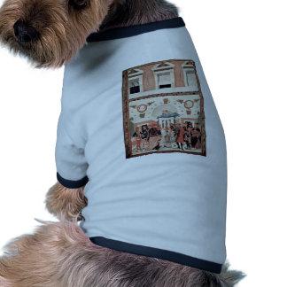 Ciclo de la pintura para los milagros de St Camiseta Con Mangas Para Perro
