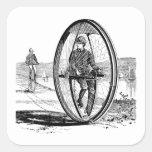 Ciclo de la rueda grande - bicicleta del Unicycle  Colcomanias Cuadradases
