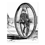 Ciclo de la rueda grande - bicicleta del Unicycle  Tarjetas Postales