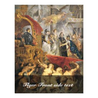 Ciclo de las pinturas para Maria De 'Medici, reina Tarjetón