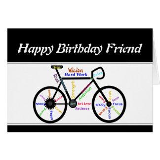 Ciclo de motivación de la bicicleta de la bici del tarjeta de felicitación
