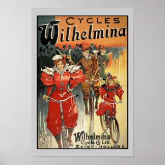 Ciclo de Wilhelmina y poster Co. Ltd. Zeist-Holand