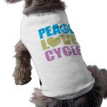 Ciclo del amor de la paz camiseta de perro