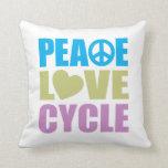 Ciclo del amor de la paz cojin