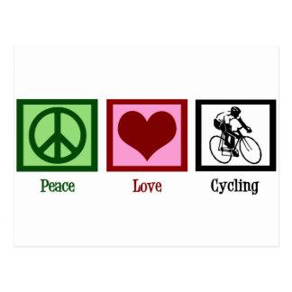 Ciclo del amor de la paz tarjeta postal